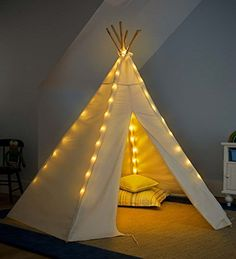 Imagine the fun with a tent with lights!