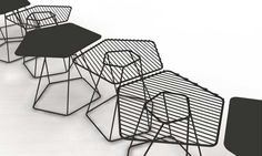 table armature filaire, Alain Gilles, tectonic tables
