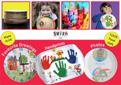 Cherish memories and your kids' artwork with personalized plates, trays and clocks, starting at only £8