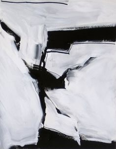 Number 1188 Black and White Abstract Art acrylic on by edgecenter, $50.00