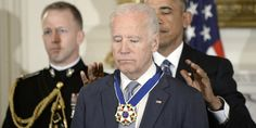 "He called Biden ""the best vice president America has ever had."" President Obama awards Vice President Joe Biden with the Medal of Freedom."