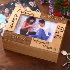 A box with your favorite memories inside: Customize this box! Paint it, decorate the outside, and fill it with your favorite memories for a nice reminder. Notes, concert tickets, pictures, souvenirs... You decide.