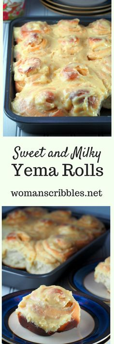 Yema rolls are tender bread rolls iced with milky yema frosting.