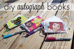 seven thirty three - DIY Autograph Books! Disney 2015, Disney Diy, Disney Crafts, Disney Dream, Disney Love, Disney Magic, Disneyland Vacation, Disney Vacations, Disney Trips