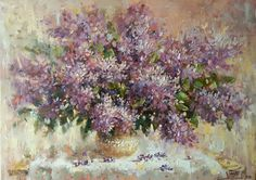 """Lilac"" oil on canvas,  50/70cm, 2016"