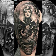 Tattoo Disney Beauty And The Beast Snow White - RetroModa