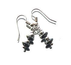 SIMPLICITY hematite earrings stainless steel beads door deBATjes