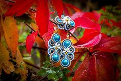 Bash-arT / Ruská kráľovná/ earrings blue soutache