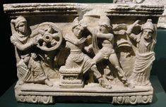 Death of Myrtilus depicted on a cinerary urn Ancient Civilizations, Ancient Greece, Greek Mythology, Nymph, Hero, Statue, Pictures, Amazons, Pisa