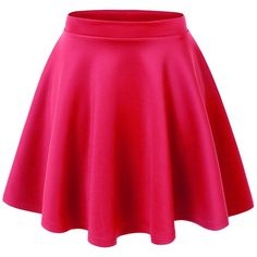 Lock and Love Womens Basic Versatile Stretchy Flared Skater Skirt ($11) ❤ liked on Polyvore featuring skirts, bottoms, saias, pink skater skirt, flare skirt, pink skirt, stretch skirt and flared skirt