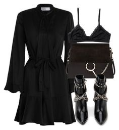 """Untitled #6507"" by laurenmboot ❤ liked on Polyvore featuring Zimmermann, Chloé, Yves Saint Laurent and Monki"