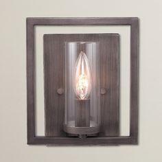 Brayden Studio Politte 1 Light Wall Sconce Finish: Gunmetal Bronze