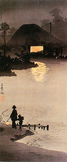 高橋松亭 Shotei Takahashi『千束の池』(1909)