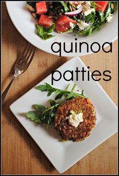Quinoa Patties with Goat Cheese and Remoulade | via Prevention RD