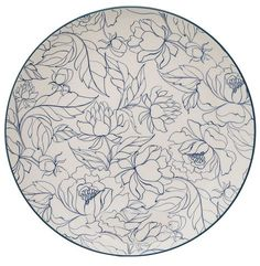 """Fleur Ceramic 9.8"""" Dinner Plate"""