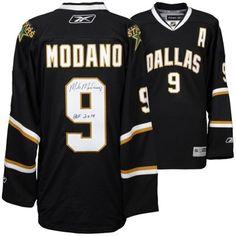 Mike Modano Dallas Stars Autographed Reebok Premier Jersey with HOF 2014  Inscription Mike Modano 6a9372373