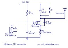 Most simple FM transmitter circuit diagram Circuits Gallery ...