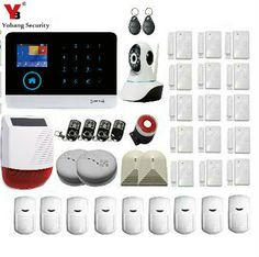 sale yobangsecurity 3g wifigprssms home alarm system wireless security solar outdoor wateproof #solar #security #camera