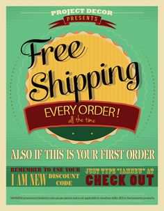 Free shipping, every order, every day! ProjectDecor.com