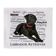 CafePress - Black Lab Traits - Woven Throw Pillow, Decorative Accent Pillow - Just Labrador Big Dogs, I Love Dogs, Black Labrador Retriever, Labrador Retrievers, Retriever Puppies, Homeless Dogs, Therapy Dogs, Lab Puppies, Working Dogs