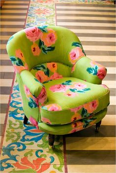 Armchair by Lisa Corti, Milan textile designer.