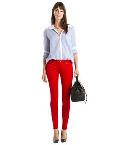 7 For All Mankind The Skinny Apple Red Skinny Leg is on Rue. Shop it now. $30, down from $169. js