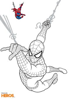 14 Prestigieux Coloriage Spiderman A Imprimer Pics Check more at www. Avengers Coloring Pages, Superhero Coloring Pages, Spiderman Coloring, Marvel Coloring, Cartoon Coloring Pages, Coloring Pages To Print, Coloring Book Pages, Coloring Pages For Kids, Spiderman Sketches