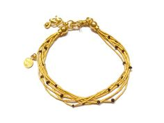 Gurhan Gold and Black Diamond Bracelet- 7 strands of 24 karat gold and genuine black diamonds!