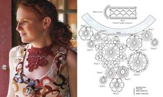 I found some nice accessory patterns posted here. There are all sorts of things posted from necklaces and bracelets, to arm warmers. Crochet Jewelry Patterns, Tatting Patterns, Crochet Stitches Patterns, Crochet Chart, Love Crochet, Crochet Accessories, Irish Crochet, Crochet Flowers, Knit Crochet