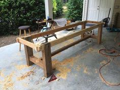 10 ft farmhouse table foot farm with reclaimed barn wood projects plans kitchen Fabrication Table, Farmhouse Table With Bench, Dinning Room Tables, Farm Tables, Outdoor Farm Table, Dining Rooms, Wood Patio Furniture, Barn Wood Projects, Reclaimed Barn Wood