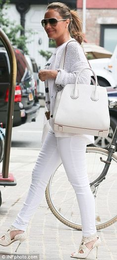Leah Remini love this all white look- Stunning!