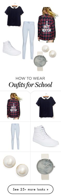 """""""Casualties after school"""" by hollomantyasia on Polyvore featuring Jac Vanek, 7 For All Mankind, Vans and Kate Spade"""