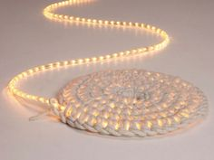What a great idea and love the night light and rug combination. This crochet Night Light Carpet will be a handy addition to any room! What needed: Hook 4 skeins of textile yarn String LED lights Scissors Source Here