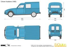 The-Blueprints.com - Vector Drawing - Citroen Acadiane