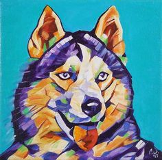 PopArt Husky - 8in x 8in - Oil over Acrylic.  This painting will be available for purchase on my website in the upcoming week and prints/products will be available soon. Owwwwwwwwooooooohh!!! Purchase custom commissions direct through my Etsy shop: https://goo.gl/bQyD43  Pricing: http://ift.tt/2stxsCj  #nyc #newyork #newyorkcity #manhatten #uppereastside #ilovenyc #contemporaryart #modernart #photooftheday #igersofnyc #newyorkart  #newyorkartist #nyart #popart #petportrait #petpainting…