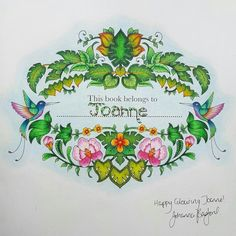 Johanna Basford | Picture by Joanne | Colouring Gallery