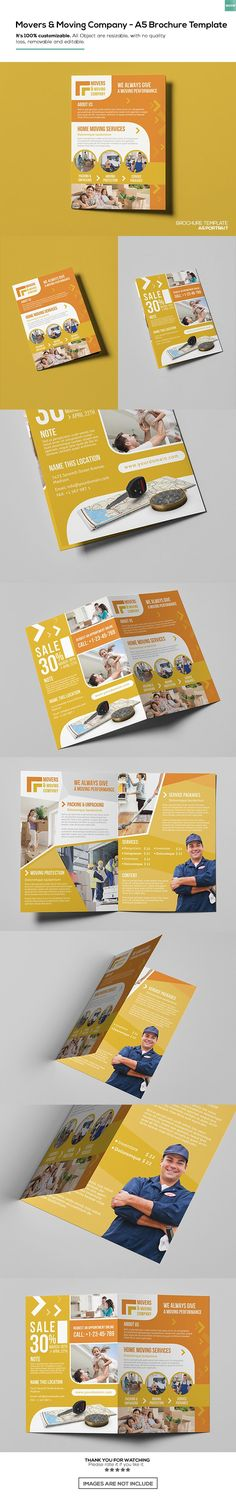 Free-Movers & Moving Brochure Template On Behance within Moving Flyer Template - Business Template Invoice Template Word, Email Templates, Certificate Templates, Report Template, Brochure Template, Flyer Template, Free Brochure, Business Planning, Behance
