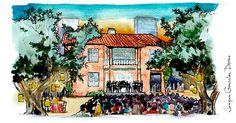 Madrid, Painting, Life, Art, Centre, Cities, Illustrations, Art Background, Painting Art