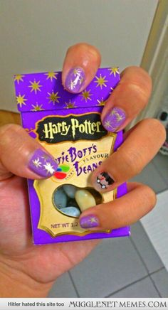 Harry Potter Design with Bertie Botts Every Flavored Beans--I am sooo doing this!!
