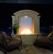 Outdoor romance....for those times when just a fireplace, glass of wine and some chat is all you need for date night