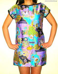 Φόρεμα ρομαντικό Short Sleeve Dresses, Dresses With Sleeves, Fashion, Moda, Sleeve Dresses, Fashion Styles, Gowns With Sleeves, Fashion Illustrations