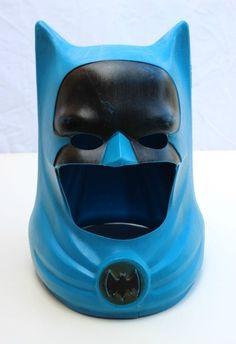 "Vintage 1966 Batman Helmet Ideal Toy Corp Face Mask Cowl 12"" High | eBay"