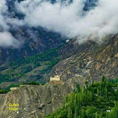 Awesome view of Beautiful photography of Baltit fort Karimabad town Hunza valley Gilgit Baltistan Pakistan