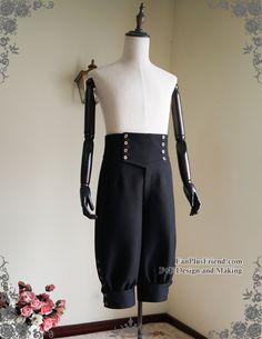 d546905b26e Fanplusfriend Gothic Steampunk High Waist Short Riding Breeches Черные  Шорты