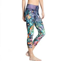 9 Styles New 3D Printing Short Leggings Strong Splicing Funy Design Elastic Wicking Sweat Sexy Sporting Fitness Capri Pants