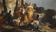 """#GiambattistaTiepolo, """"Moses saved from the waters of the Nile"""", 1736 ca. Oil on canvas, 202x342 cm, Edimburg, Scottish National Gallery"""