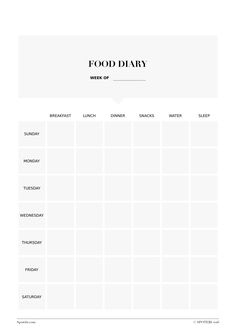 weight loss food journal template printable related pictures daily
