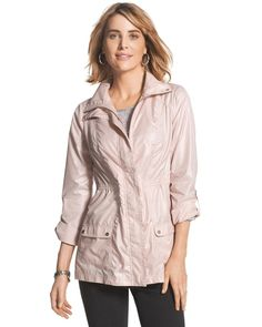 Chicos Womens Blue Zenergy Colleen Pink Jacket from Chico's on Catalog Spree