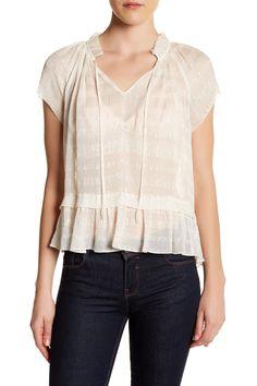 Short Sleeve Clip Linen Shirt