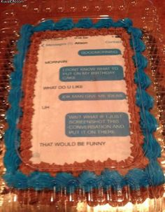 iMessage birthday cake